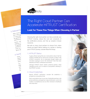Choosing A HITRUST Cloud Partner