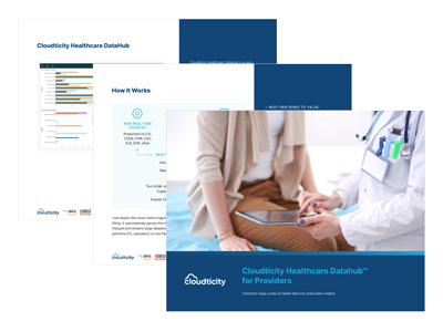 Cloudticity Healthcare DataHub for Providers